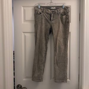 Free people gray fade corduroy cropped